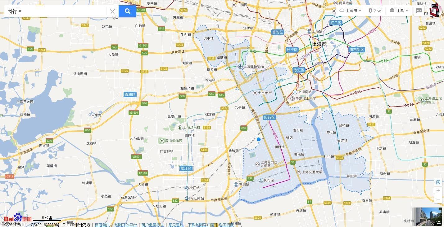 新虹街道手绘地图